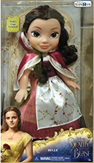 Disney Beauty and The Beast Belle Red Dress 14-Inch Doll with Cape