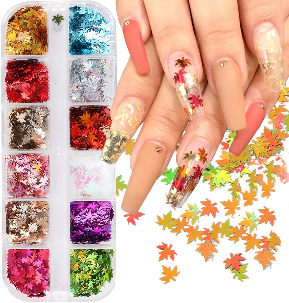 Time sale 12 Max 59% OFF Colors Fall Nail Art Thanksgiving Stickers Decals Design
