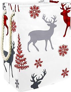 Vockgeng Noël, cerf, Arbre Accueil Organisation Panier de Rangement imperméable Pliable de Jouets de Jouets de Panier avec...