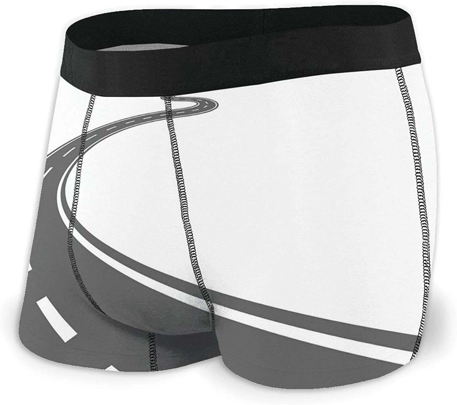 Houston Mall TZT Curved Winding Road Men's Breathable Briefs Boxer Comfortabl Be super welcome