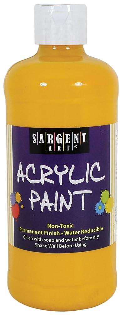 Sargent Art 24-2422 16-Ounce Acrylic Paint, Deep Yellow