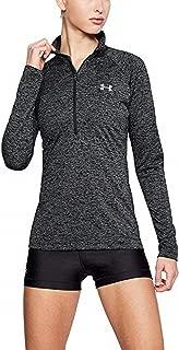 Under Armour Womens Tech Twist ½ Zip Long Sleeve Pullover Style 1320128 Black Silver Medium