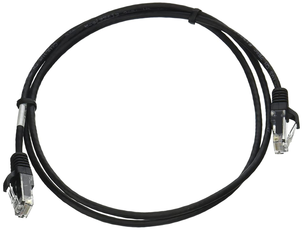 C2G 01059 Cat5e Cable - Snagless Unshielded Slim Ethernet Network Patch Cable, Black (4 Feet, 1.21 Meters)