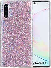 Galaxy Note 10 Plus Case, Note10+ 5G Case, iYCK Luxury Bling Glitter Sparkle Shiny Transparent Flexible Soft Rubber TPU Protective Shell Hybrid Bumper Case Cover for Samsung Galaxy Note10 Plus - Pink