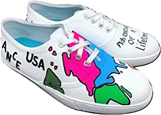 FUNKY N TRENDY Travel Theme Hand Painted Waterproof Canvas Casual Shoes