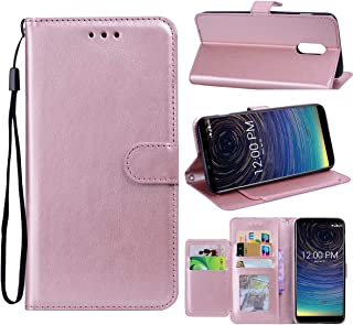 Coolpad Legacy 3705A Case, Zeking Premium PU Leather Flip Fold Wallet Case [Kickstand Feature] with [ID&Credit Card Slot] Case Cover Compatible with Coolpad Legacy 3705A (2019)(Rose Gold)