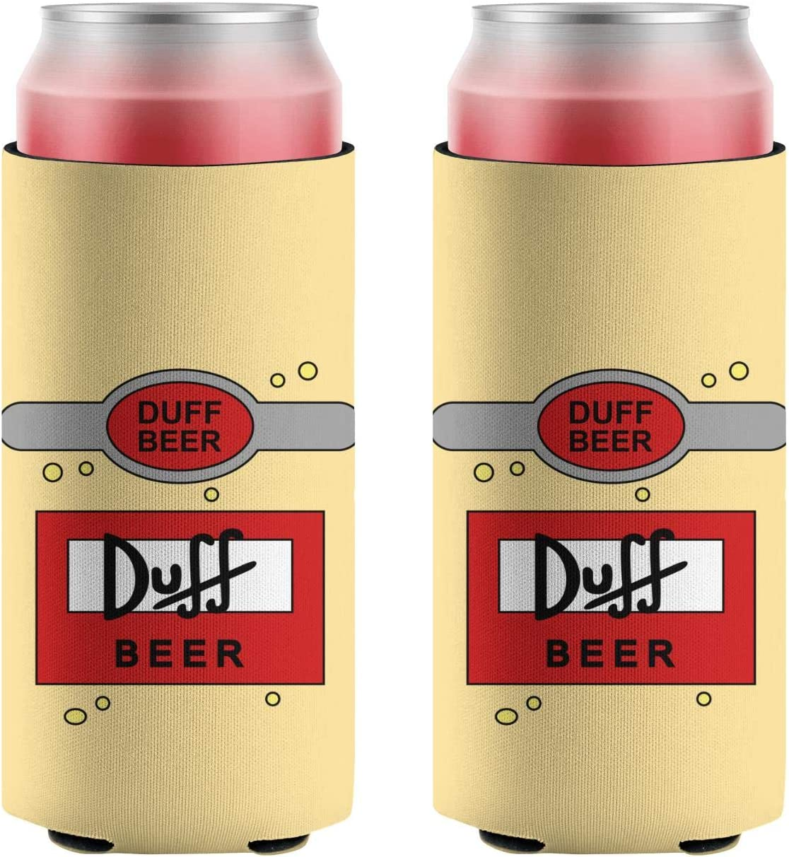 YNAHWT Slim Beer Max 42% Sales OFF Coozies Duff-Beer-Glass-Drink-Alcohol- Neo Cans
