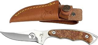 Elk Ridge ER-059 Series Fixed Blade Hunting Knife, Straight Edge Blade, Wood Handle, 7-Inch Length