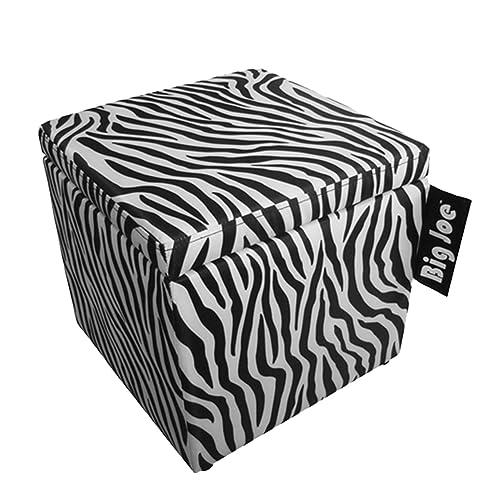 Delicieux Big Joe Square Storage Ottoman, 15 Inch, Zebra