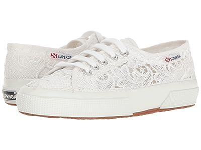 Superga 2750 Lace Sneaker (White Cotton) Women