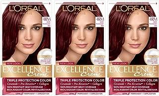 L'Oréal Paris Excellence Créme Permanent Hair Color, 4M Dark Mahogany Red