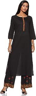 Amazon Brand - Tavasya Women's Cotton Straight Salwar Suit Set