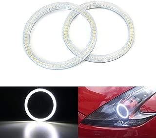 iJDMTOY 6000K Xenon White SMD LED Angel Eyes Halo Rings for 2009-2017 Nissan 370Z Z34 Fairlady