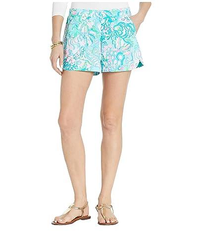 Lilly Pulitzer Ocean View Shorts (Blue Ibiza Aqua La Vista) Women