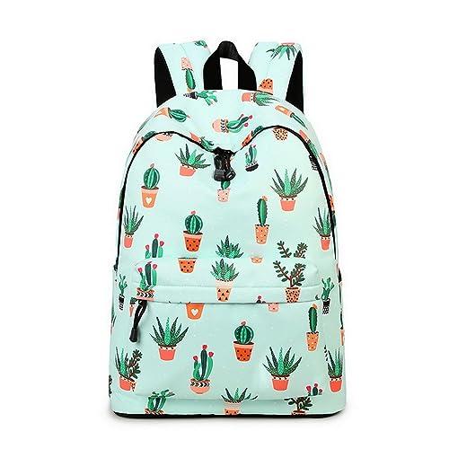 8e4b52666b32 Teecho Waterproof Cute Backpack for Girl Casual Print School Bag Women  Laptop Backpack Cactus
