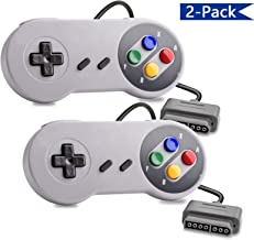 Veanic 2-Pack Replacement Controller Gamepad for SNES - Original Super Nintendo Entertainment System