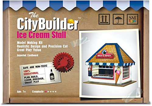 ice cream stall model making kit by the citybuilder 1:43 scale (7mm) o gauge - Beige
