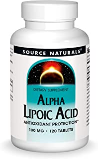 Source Naturals Alpha Lipoic Acid 100 mg Supports Healthy Sugar Metabolism, Liver Function & Energy Generation - 120 Tablets