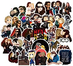 Paul Pesce&Bharat Nalluri The Hundred Waterproof Stickers/Decals (50 pcs) of American TV Series for Laptop Skateboard Snowboard Water Bottle Phone Car Bicycle Luggage Guitar Computer PS4 (Hundred)