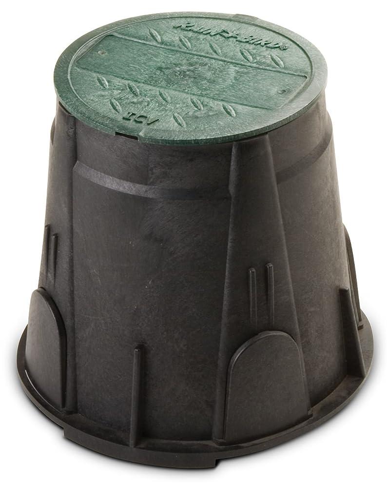 Rain Bird VBRND7 Round Sprinkler Valve Box, Black with Green Lid, 7