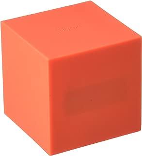 Gingko Gravity Cube Click Clock Red