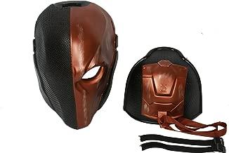 Deathstroke Mask Helment Full Head Batman: Arkham Knight D-Stroke Cosplay Mask Unisex Orange Gold