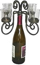 Old River Road Wine Bottle Candelabra, Holds Four Votive Candles