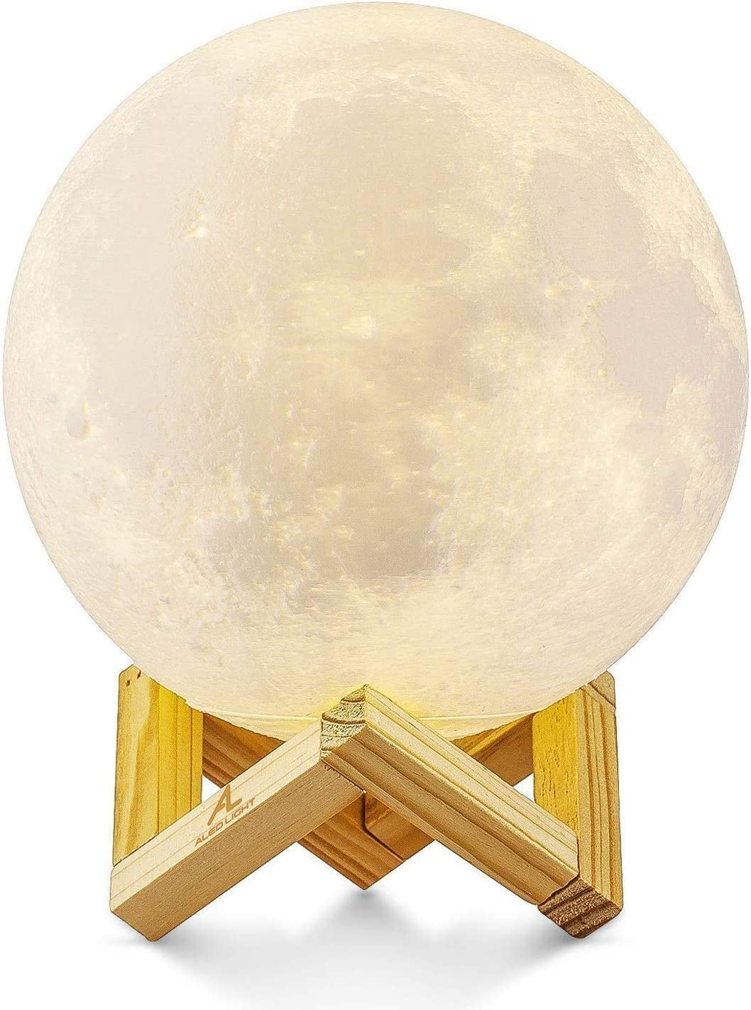 LANLANLife 3D Moon Spring new work one after another Lights The Night Bedr Light USB Charging Lamp Max 51% OFF