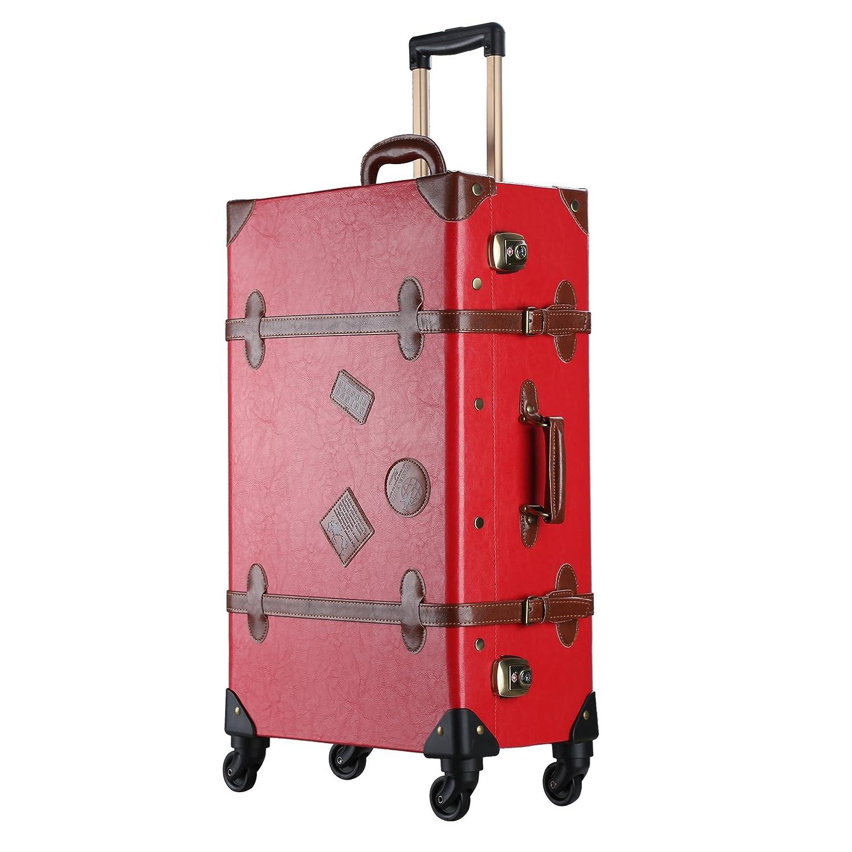 耕す保護ベーリング海峡スーツケース キャリーケース トランクケース キャリ ーバック 静音四輪キャスター TSAロック搭載 超軽量 低振動 機 内持込可(赤)
