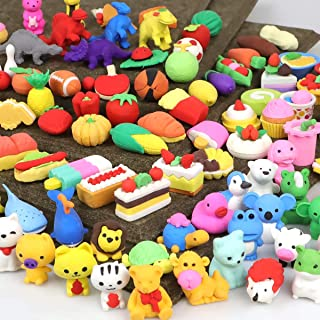 POKONBOY 100Pcs 3D Animal Puzzle Pencil Erasers, Mini Kids Erasers in Bulk for Classroom Incentives, Party Favors, Carniva...