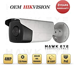 4MP PoE Security IP Camera - Compatible with Hikvision DS-2CD2T42WD-I5 EXIR Bullet,Indoor and Outdoor, 4mm Fixed Lens English Version 3 Year Warranty