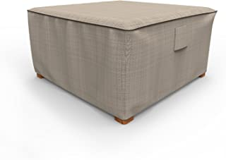Budge P4A02PM1 English Garden Square Patio Table Ottoman Cover, Extra Large, Two-Tone Tan