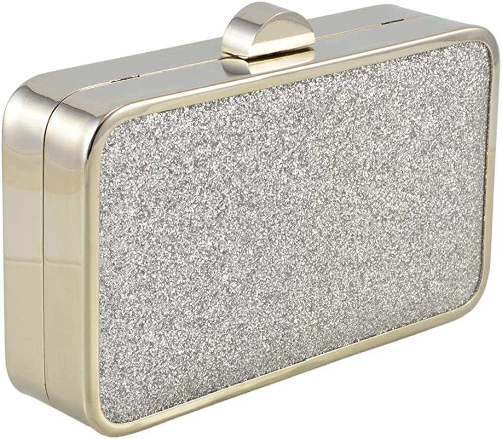 ESSEX GLAM Synthetic Glitter Evening Clutch Bag