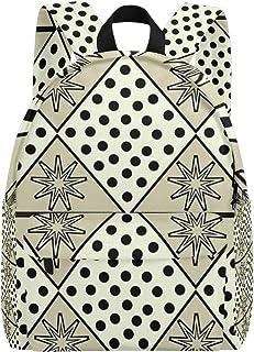 MALPLENA - Mochila para Hombre, diseño de Lunares y Copos de Nieve, Color Negro