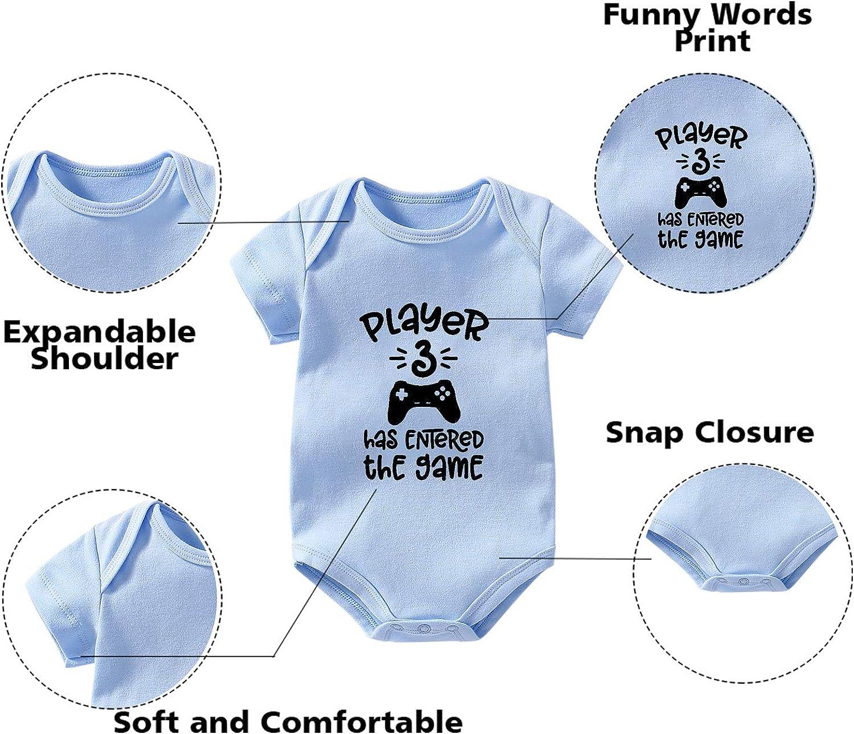 4 regalos de nacimiento regalo de nacimiento culbutomind Body para beb/é de gemelos 3 jugadores divertido body para beb/é 2 juegos