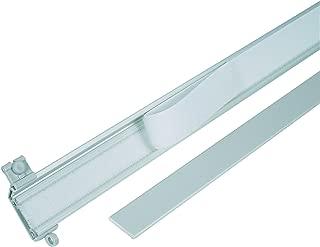 mydeco Riel de Rail, Superficie de Accesorios para riel de Cortina Rail, Color: Plata + Blanco, Longitud: 60cm, Aluminio, Plata, 60 cm
