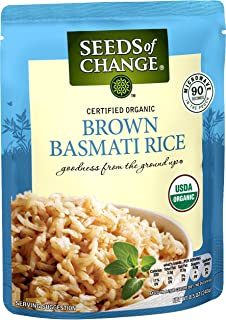Seeds Of Change Organic Brown Basmati Rice, Ready to Heat, 8.5 Ounce (Pack of 6)
