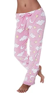 Womens Casual Super Soft Plush Lounge Pajama Pants