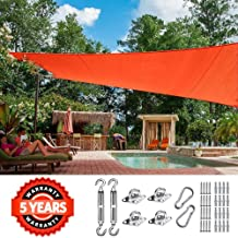 Quictent 26 X 20 ft 185G HDPE Rectangle Sun Shade Sail Canopy 98% UV Block Outdoor Patio Garden with Free Hardware Kit (Red)