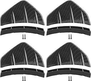 Posteriore Laterale Ala Spoiler ABS Disposizione della Copertura della Stickers Accessori Car Styling Forma for Volkswagen Misura for Il Polo MK6 2019+ without brand FJJ-CSZS
