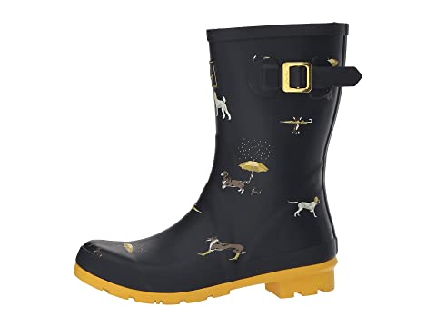 Joules Dogs Navy Mid Raining Welly Molly Rubber gfXrgwq0x