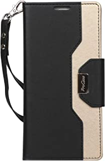 ProCase Galaxy Note 9 Wallet Case, Flip Kickstand Case with Card Slots Mirror Wristlet, Folding Stand Protective Cover for Galaxy Note 9 2018 -Black