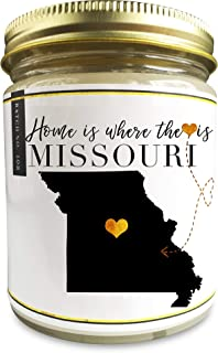 Missouri Homesick Scented Soy Candle   9oz Plant-Based Soy Wax