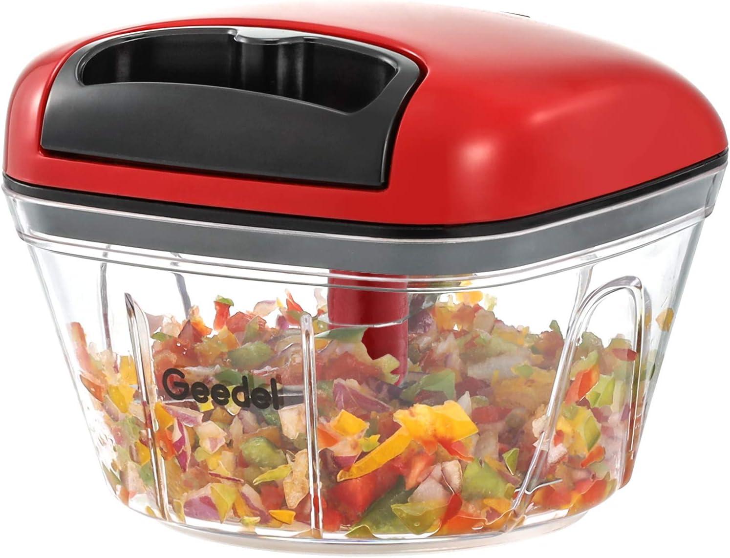 Pull Food Chopper, Manual Food Chopper Nut Chopper Easy to Clean