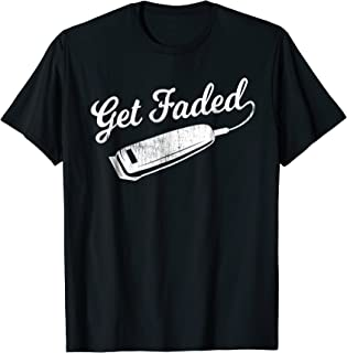 Vintage Distressed Barber T-Shirt - Get Faded Script Tail Te