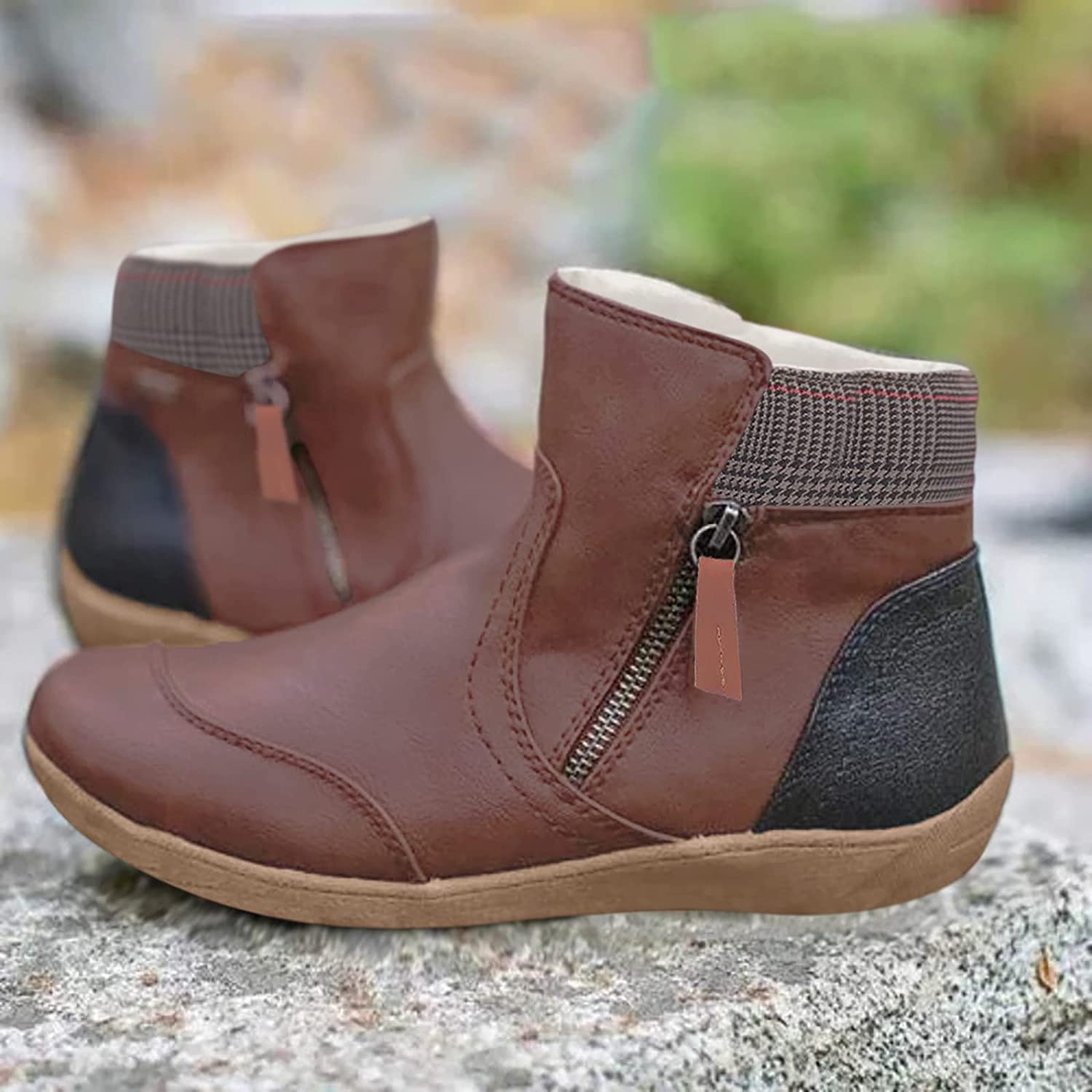Womens Snow Boots Warm Ankle Booties Waterproof Comfortable Slip On Outdoor Fur Lined Lining Winter Shoes for Women