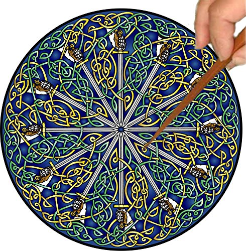 Mandalynths Celtic Swords Mindfulness Art for Stress, Anxiety and Attention Management