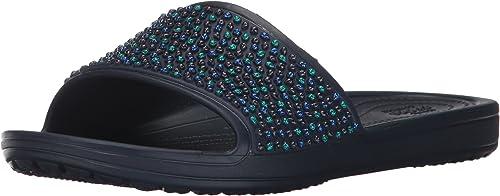 Crocs Sloane Embellished Slide W, Sandales Bout Ouvert Femme