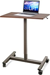 """Seville Classics OFF42630 AIRLIFT Pneumatic Laptop Computer Mobile Desk Cart Height-Adjustable from 29.3"""" to 43.5"""" H, 24"""",..."""