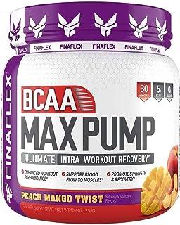 Finaflex Bcaa Max Pump Peach Mango Ultimate Intra Workout Recovery 10 Ounce, 10 Ounce